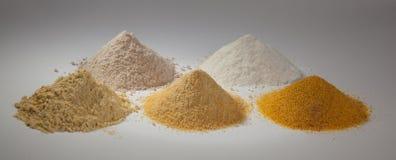 Włoskie kukurudzy, ryż i durry mąki, Obraz Royalty Free