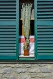 Włoskie okno żaluzje Obrazy Royalty Free