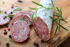 włoskie salami fotografia stock