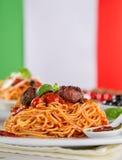 włoskiej odosobnionej makaron ścieżki white pomidorowego obrazy royalty free