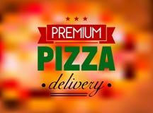 Włoskiej pizzy restauracyjna etykietka lub logo Obrazy Royalty Free
