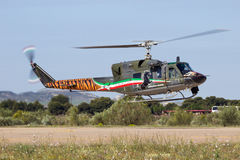 Włoskiej siły powietrzne Agusta Dzwonkowy AB-212 helikopter Zdjęcia Royalty Free