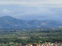 Włoskiej wsi przyglądający południe Naples obrazy royalty free