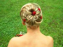 włosy ślubne styl zdjęcia royalty free