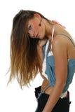 włosy długie seksowna kobieta Zdjęcia Stock