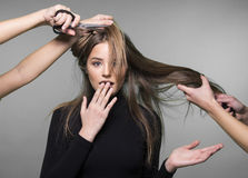Włosy i głowy skóry problem Zdjęcie Royalty Free