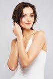 włosy jej urocza stawiająca mokra kobieta Obraz Royalty Free