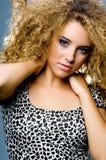 Włosy kędzierzawy Model obrazy stock