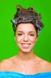 włosy szampon jej kobieta obrazy royalty free