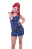 włosy target1222_0_ kobiet ładnych czerwonych potomstwa Obrazy Royalty Free