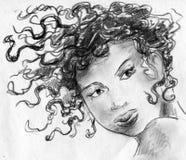 Włosy w wiatrze Zdjęcia Royalty Free
