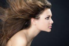 włosy wiatr Obraz Royalty Free