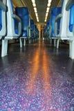 Włoszczyzna pociąg, Wenecja, w wieczór fotografia stock