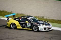 Włoszczyzna Porsche Carrera 911 filiżanka przy Monza Zdjęcia Royalty Free