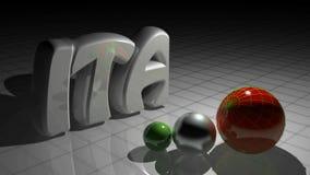 WŁOSZCZYZNA r za thre sferami ma kolory włoch flaga - 3D renderingu wideo zdjęcie wideo