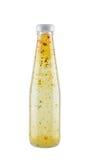 Włoszczyzna stylowy sałatkowy opatrunek w szklanej butelce Zdjęcie Stock