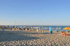 Włoszczyzny plaża w lecie Zdjęcie Stock