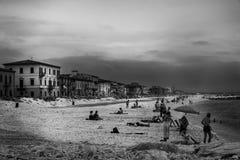Włoszczyzny plaża w starym stylu Zdjęcia Royalty Free