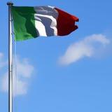 we włoszech bandery Zdjęcia Royalty Free