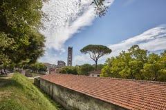 we włoszech komunalnych pejzażu Verona Lucca ulica obraz stock