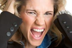 wściekła kobieta Zdjęcie Stock