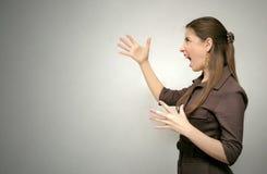 wściekła kobieta jednostek gospodarczych Zdjęcie Stock