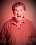 wściekłości czerwień Obraz Royalty Free