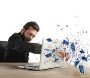 Wściekły biznesmen w biurze Obraz Royalty Free