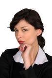 Wściekły bizneswoman Obraz Royalty Free