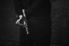 Wściekły brutalny kryminalny planowanie rabunek Fotografia Stock