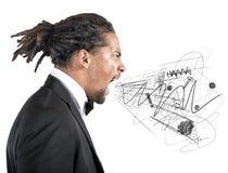 wściekły businessman Fotografia Royalty Free