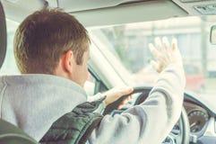 Wściekły i lekkomyślnie kierowca Niebezpieczeństwa napędowy pojęcie Obrazy Royalty Free