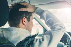 Wściekły i lekkomyślnie kierowca Niebezpieczeństwa napędowy pojęcie Zdjęcia Stock