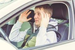 Wściekły i lekkomyślnie kierowca Niebezpieczeństwa napędowy pojęcie Zdjęcia Royalty Free