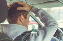 Wściekły i lekkomyślnie kierowca Niebezpieczeństwa napędowy pojęcie Fotografia Royalty Free