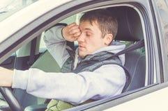 Wściekły i lekkomyślnie kierowca Niebezpieczeństwa napędowy pojęcie Obraz Stock