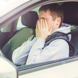 Wściekły i lekkomyślnie kierowca Niebezpieczeństwa napędowy pojęcie kwadrat Obraz Royalty Free