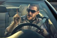 wściekły kierowcy zdjęcie stock