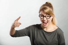 Wściekły kobiety wrzeszczeć Obrazy Stock