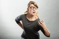 Wściekły kobiety wrzeszczeć Fotografia Stock