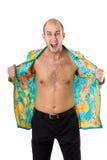 Wściekły mężczyzna w rozpinam koszula krzyczeć Fotografia Royalty Free