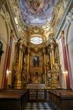 Wśrodku Łacińskiej katedry w Lviv obraz royalty free