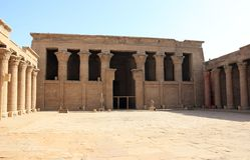 Wśrodku świątyni Edfu Egipt Zdjęcia Royalty Free