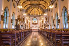 Wśrodku Świętego Różańcowego kościół, Bangkok, Tajlandia Fotografia Stock