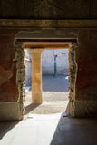 Wśrodku antycznego budynku w Pompey, Włochy Zdjęcia Stock