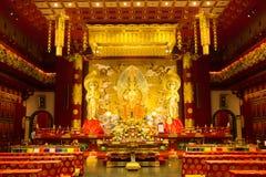 Wśrodku Buddha zębu relikwii muzeum i świątyni zdjęcia stock