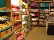 Wśrodku czekoladowego sklepu. fotografia stock