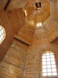 Wśrodku drewnianego kościół Fotografia Royalty Free