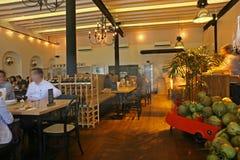 Wśrodku Herbacianego domu Birmańskiej restauraci i Obrazy Stock