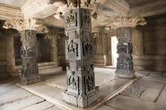 Wśrodku Hinduskiej świątyni, Hampi, India Zdjęcia Royalty Free